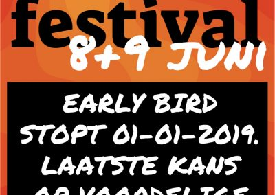 Early bird stopt 01-01-2019